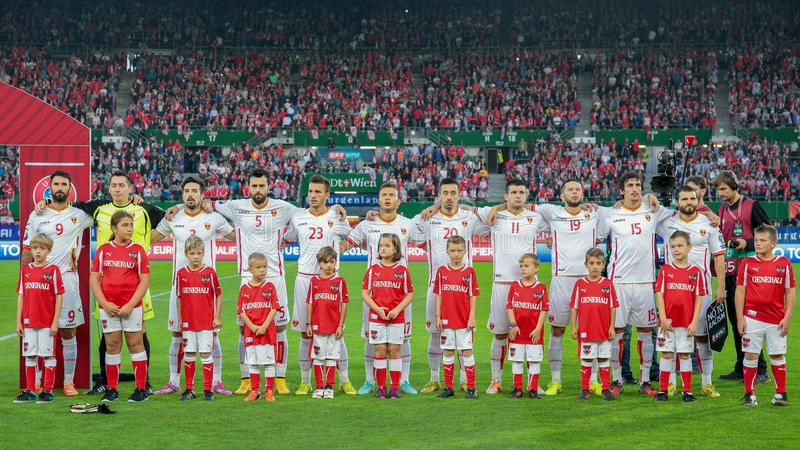 Áustria contra Bélgica montenegro foto de stock