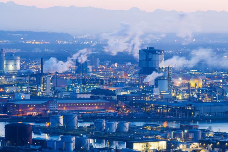 Áustria, linz, área industrial fotografia de stock