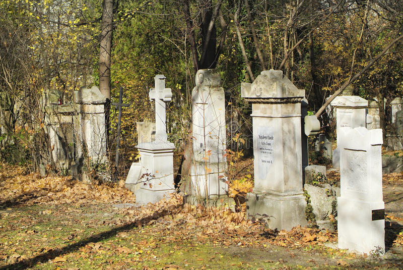 Áustria, Viena, cemitério de Biedermeier foto de stock