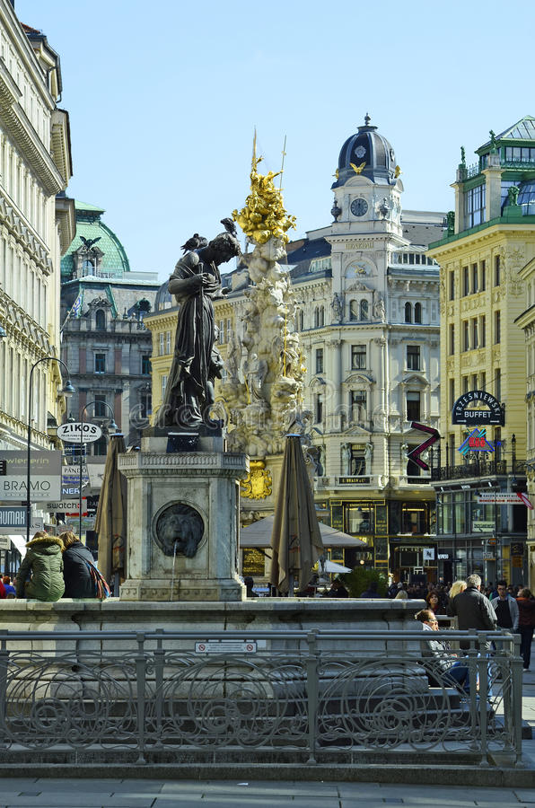 Áustria, Viena, Graben imagem de stock