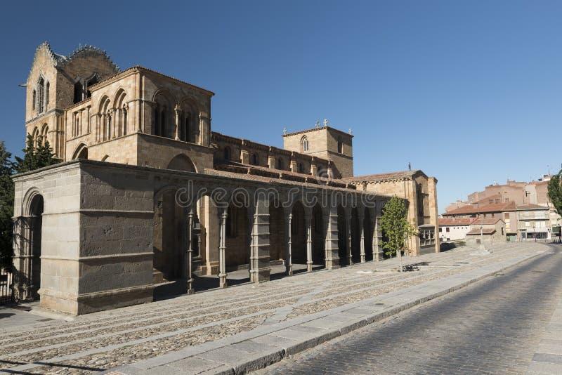 Ávila Castilla y León, España: Iglesia de San Vicente fotografía de archivo libre de regalías
