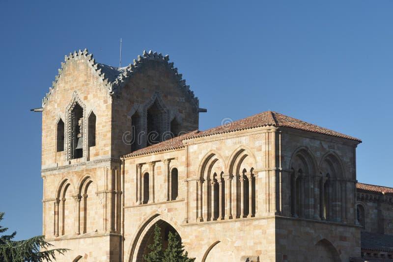 Ávila Castilla y León, España: Iglesia de San Vicente foto de archivo