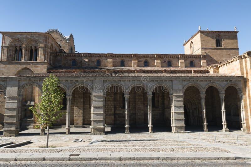 Ávila Castilla y León, España: Iglesia de San Vicente imágenes de archivo libres de regalías