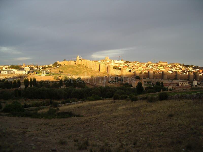 Ávila en la puesta del sol fotografía de archivo libre de regalías
