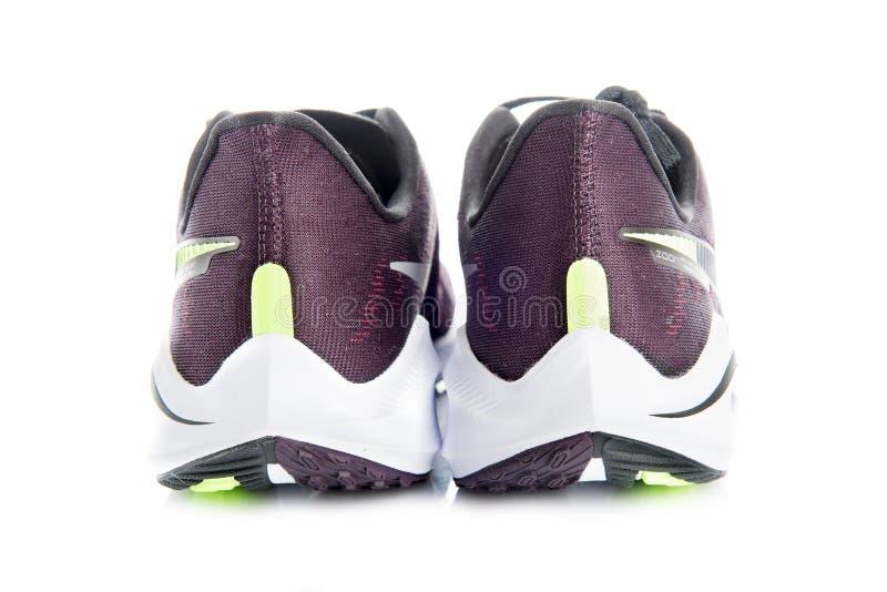 Ávila, España, febrero, 19, 2019 Lanzamiento del producto del vomero del enfoque del Nike Air 14 zapatillas deportivas imagen de archivo