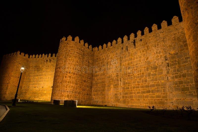 Ávila por la noche, España imágenes de archivo libres de regalías
