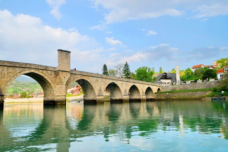 ¡De Mehmed PaÅ un puente del ‡ de SokoloviÄ en Visegrado, imagenes de archivo