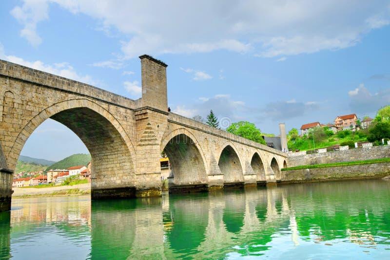 ¡De Mehmed PaÅ un puente del ‡ de SokoloviÄ en Visegrado, foto de archivo