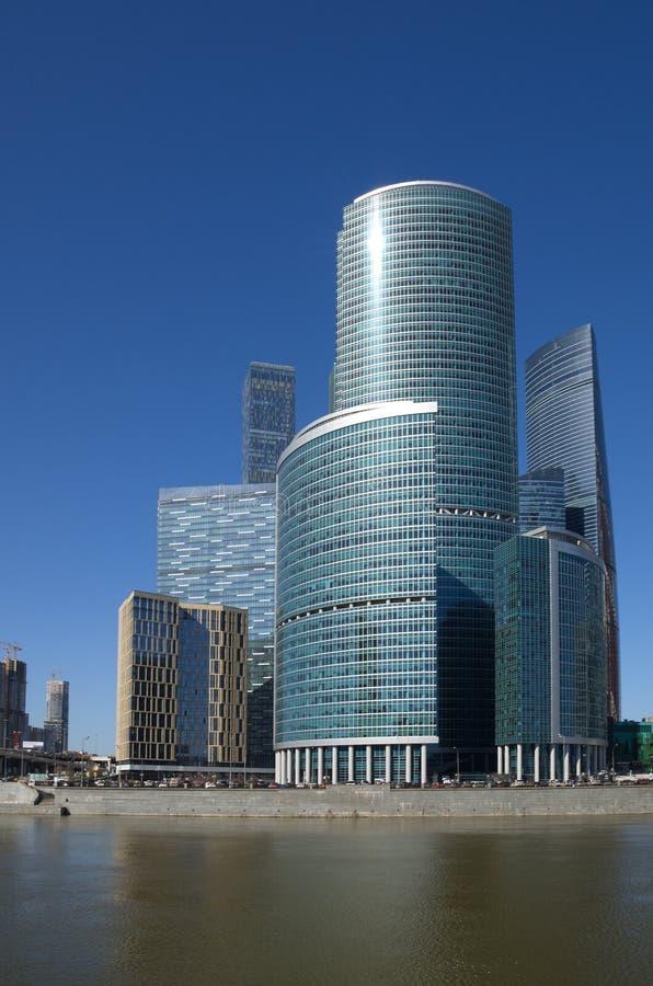 «Góruje na bulwarze «Moskwa międzynarodowy centrum biznesu «miasto «, Moskwa, Rosja obraz stock