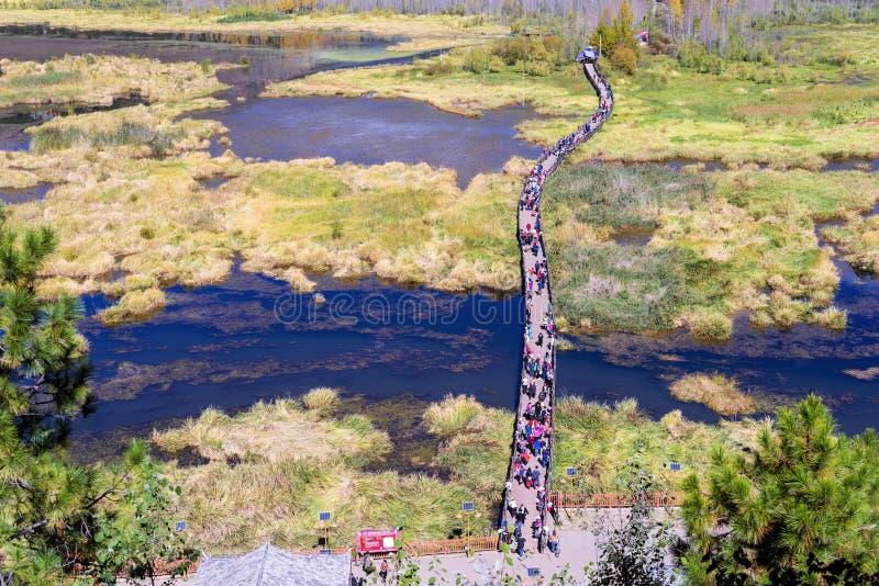 ¹ de æ de ½ de ² de ¸æ de ³ de æ – vue de lac Lugu photos libres de droits