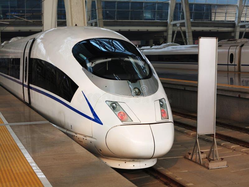 ââRail de alta velocidade, estação de comboio de Beijing fotos de stock