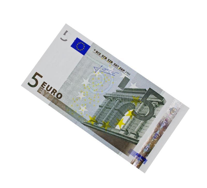 € 5, isolated royalty free stock photo