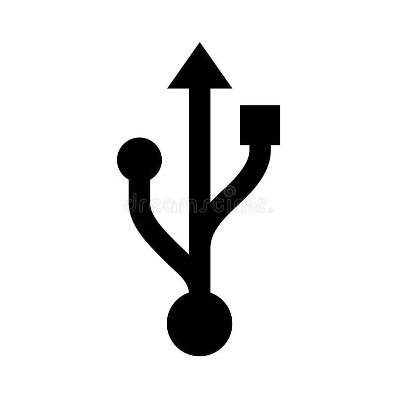 """€ da conexão de USB """"para o estoque ilustração stock"""
