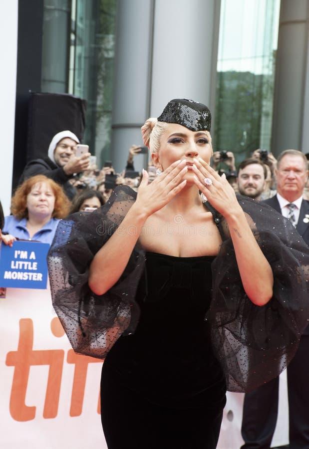 '星首放的女神卡卡是出生的'佩带的阿玛尼Privéat在多伦多国际电影节 库存照片