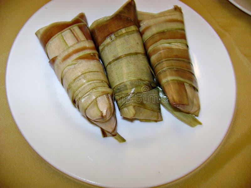 'Os ibos Suman sa são uma sobremesa favorita filipina foto de stock