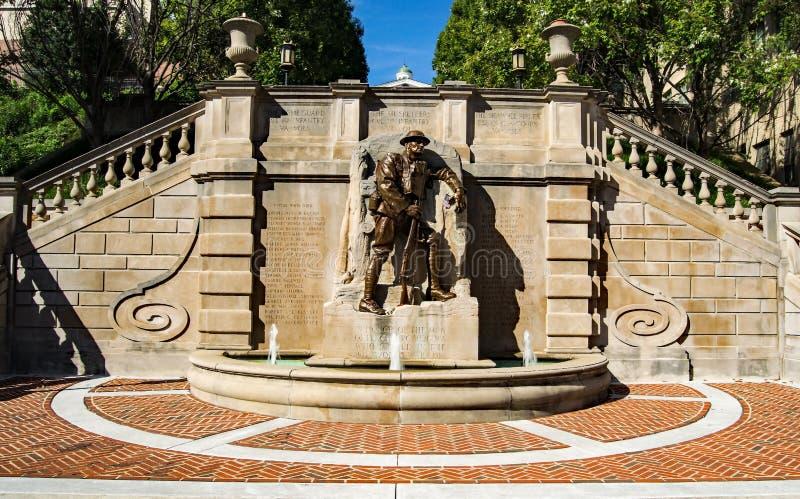 """€ """"Lynchburg, la Virginia, U.S.A. del monumento della prima guerra mondiale fotografia stock"""