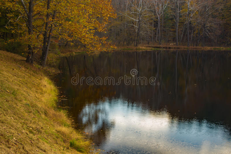 "€ ""Ridge Parkway azul, Virginia de Autumn Reflections fotos de archivo libres de regalías"