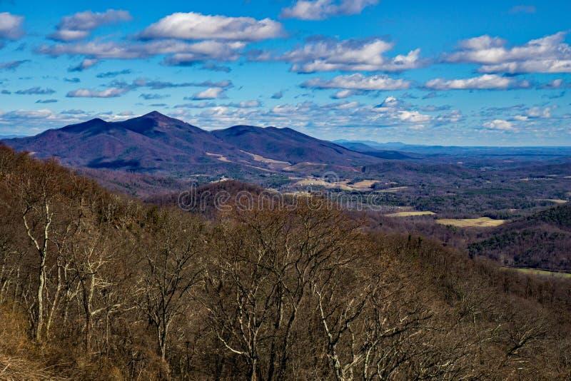 """€ """"Ridge Parkway azul, Virginia, los E.E.U.U. de la espina dorsal de los diablos fotografía de archivo libre de regalías"""