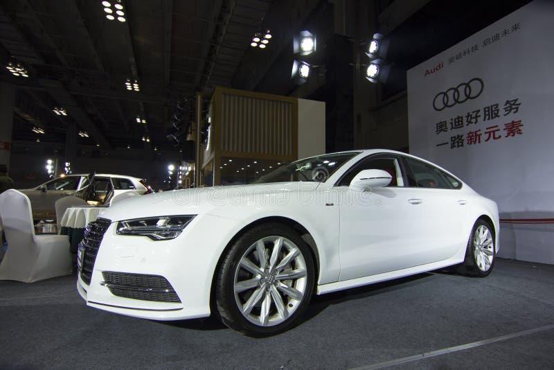 €» Audi A7 de salon de l'Auto images libres de droits