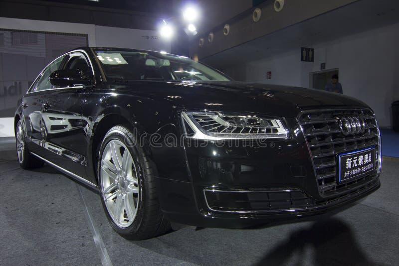 €» Audi A8L de salon de l'Auto photographie stock