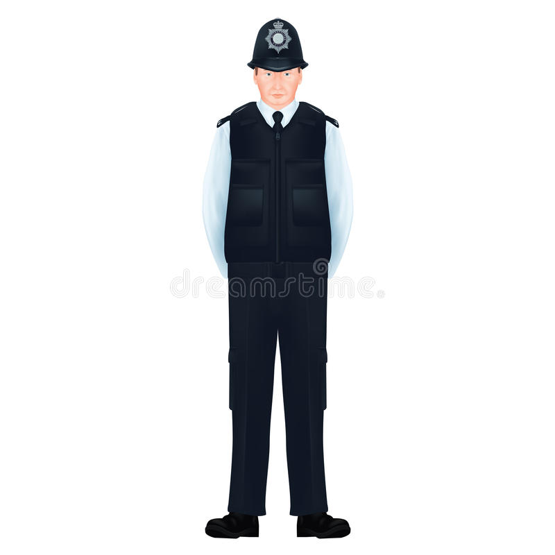€ britannique métropolitain de policiers «réaliste, détaillé illustration libre de droits