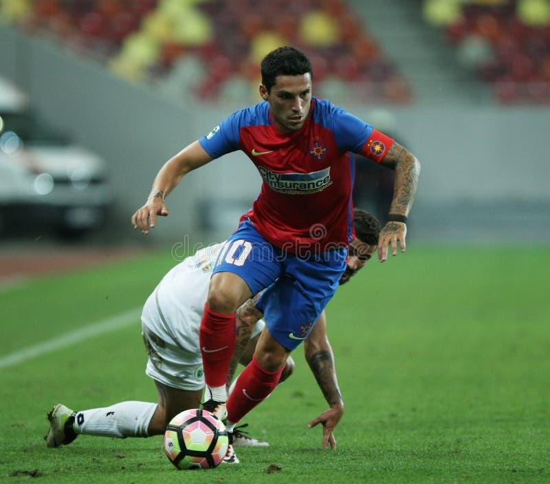 € «Concordia Chiajna Romania's Liga 1†«Steaua Bucuresti футбола стоковые фотографии rf