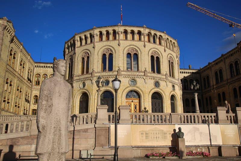 € d'OSLO, NORVÈGE «le 17 août 2016 : Le parlement norvégien conçu photos stock