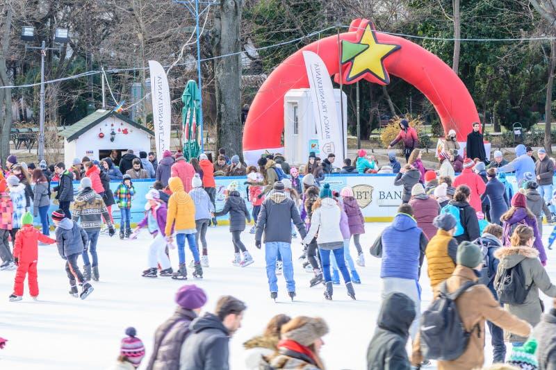 € de Bucarest, Roumanie «20 janvier : Parc de Cismigiu photos stock