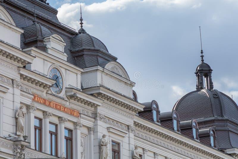"""€ de Bucarest, Rumania """"12 de enero: Grand Hotel du Bulevard imagen de archivo libre de regalías"""