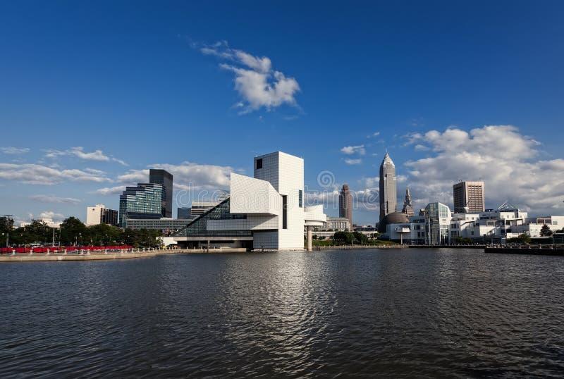 """€ de Cleveland """"14 de julio: el salón de la fama de la roca y del rollo diseñado cerca fotografía de archivo libre de regalías"""