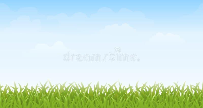 """€ de la hierba y del cielo"""" inconsútil ilustración del vector"""