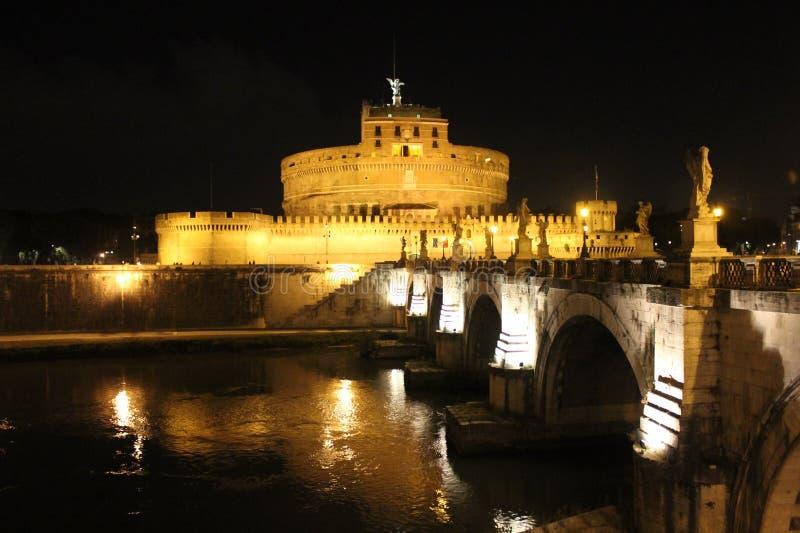 € de Rome «à travers le Tibre à Castel Sant ' Angelo images stock