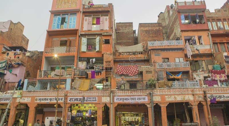 """€ di JAIPUR, Ragiastan, INDIA """"dicembre 2016: Vista sulla città di rosa di Jaipur fotografie stock"""