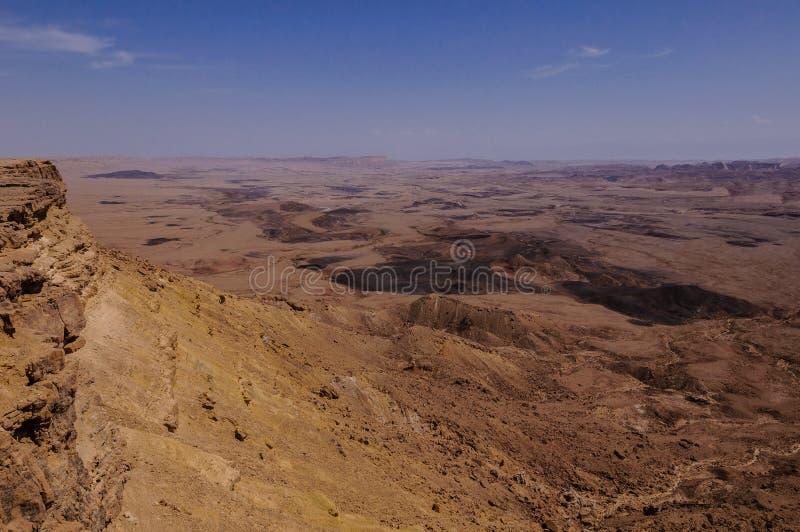 """€ di Machtesh Ramon """"il cratere di Ramon, vista del birdseye immagine stock"""