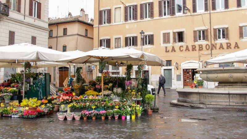 """€ di ROMA, ITALIA """"22 febbraio 2015: Campo de Fiori fotografia stock"""