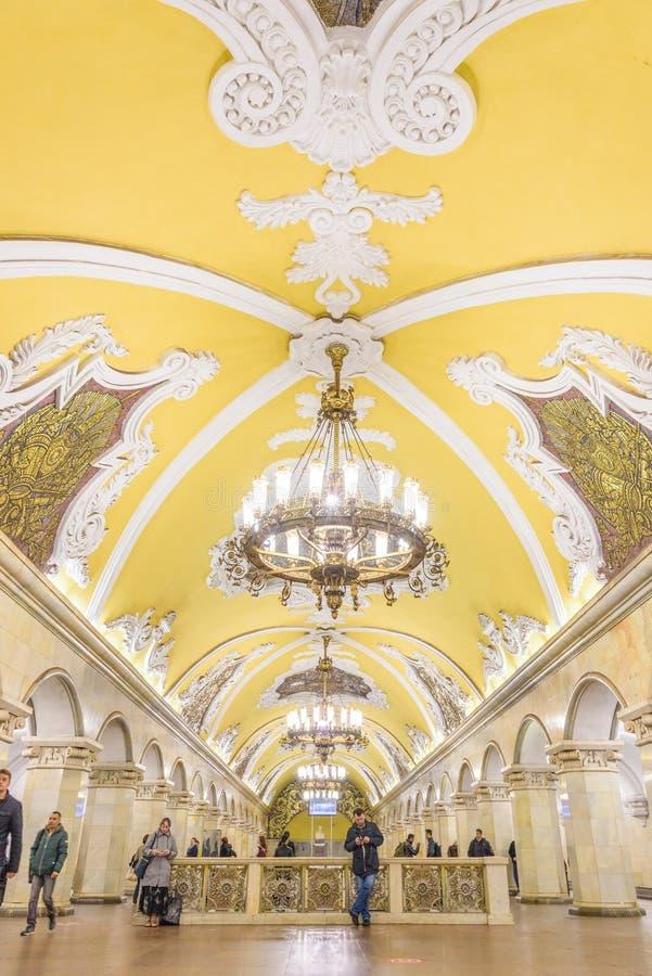 """€ Moskaus, Russland """"am 9. Juli 2017: Innenraum von Komsomolskaya Metr lizenzfreie stockbilder"""