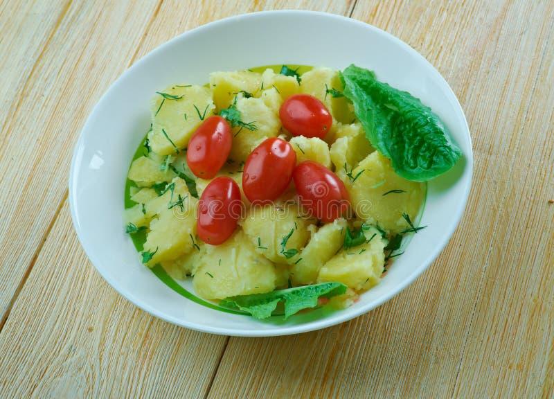 "€ turco ""Patates Salatası da salada de batata imagem de stock royalty free"