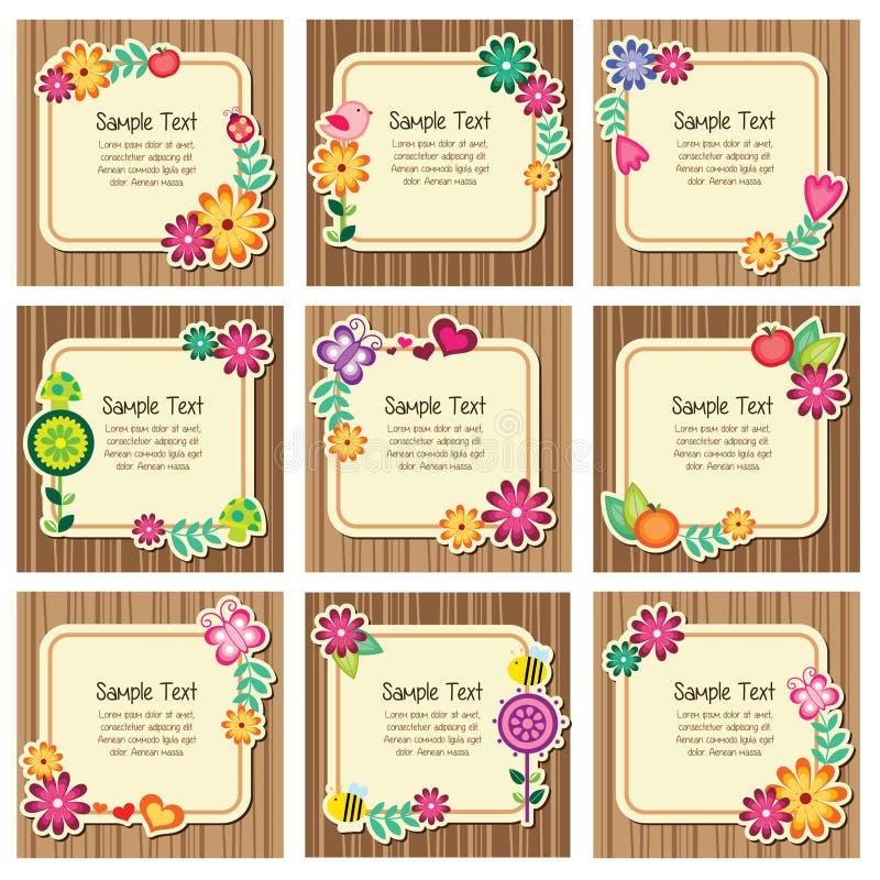Forest nature invitation cards vector illustration