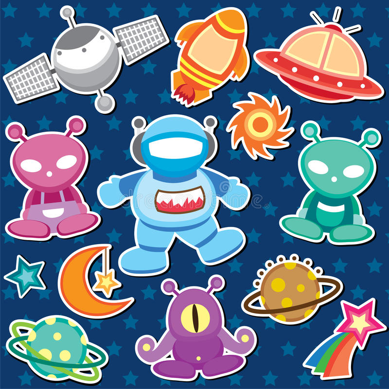 Outer space clip art. • Vector file. It can be scaled to any sizes without losing resolution. • EPS10, .EPS file will be provided. • This vector illustration
