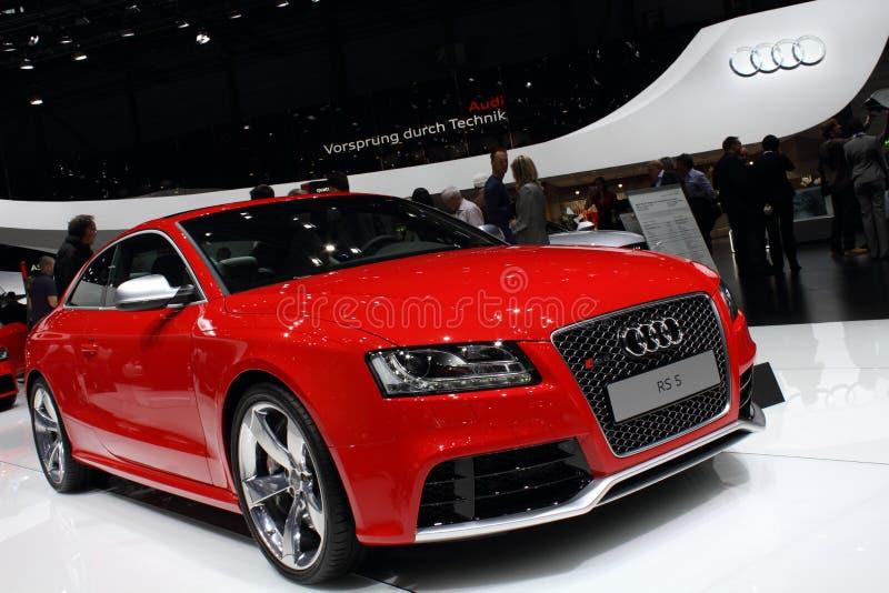 2011 da mostra de motor de Genebra Audi RS5 fotografia de stock