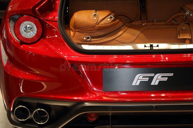 2011 di salone dell'automobile di Ginevra Ferrari FF fotografia stock libera da diritti