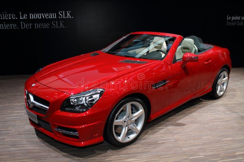 2011 di salone dell'automobile di Ginevra MERCEDES SLK 2011 immagine stock libera da diritti