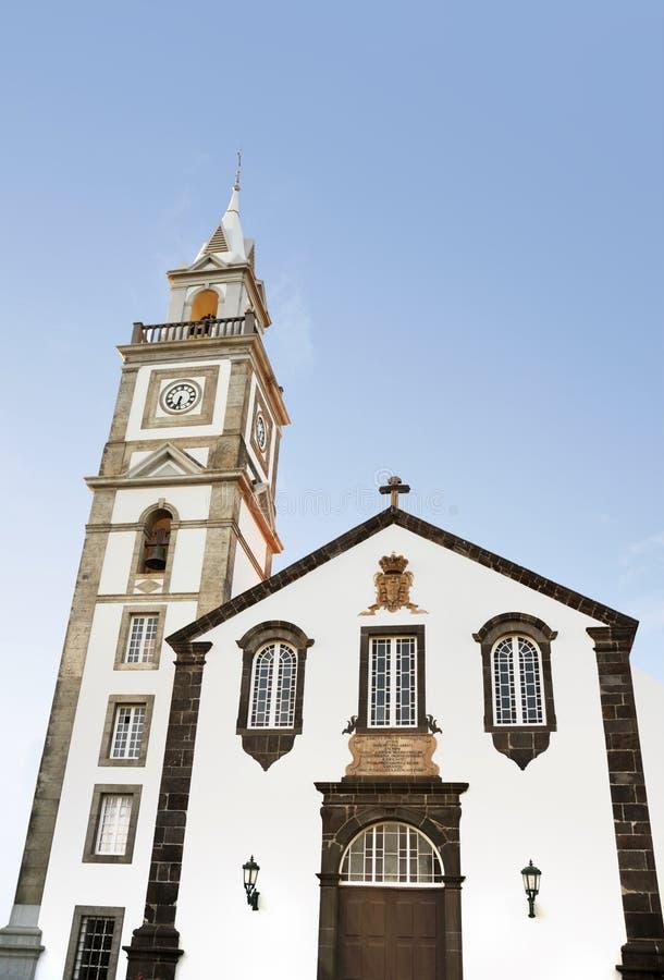 Canico, Madera della chiesa di parrocchia fotografie stock libere da diritti