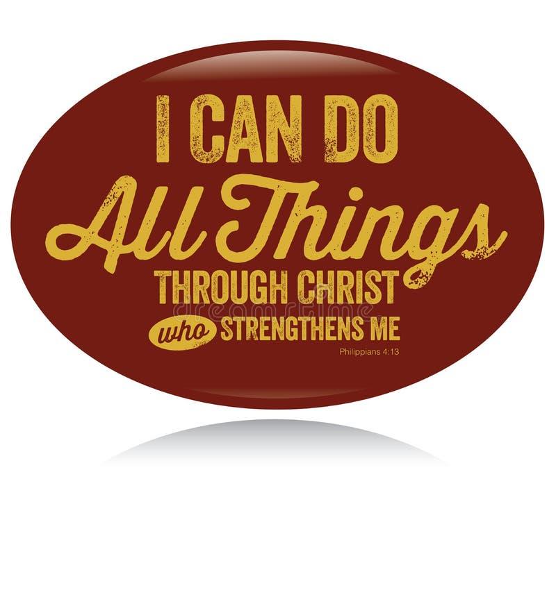 chrétien de conception de cru je peux faire tout des choses illustration libre de droits