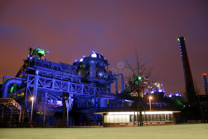 Landschaftspark Nord de Duisburg imagenes de archivo
