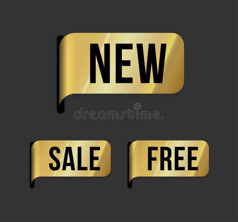 moderno novo, venda da etiqueta, livre ilustração do vetor