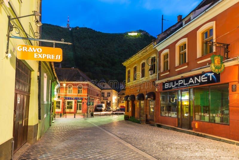 Â Romania del centro urbano del â di Brasov vecchio immagini stock libere da diritti