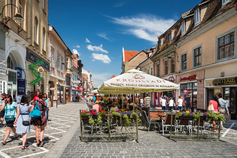 Â Romania del centro urbano del â di Brasov vecchio fotografie stock libere da diritti