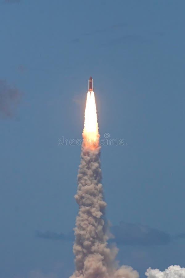 STS 121 do lançamento da canela de espaço imagem de stock