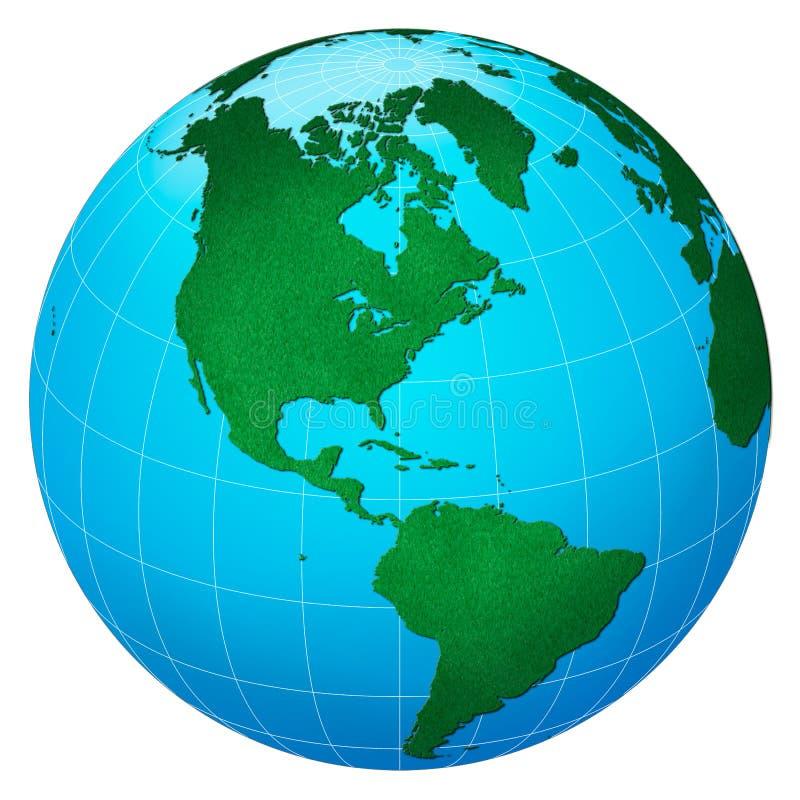 verde América del planeta céntrica ilustración del vector